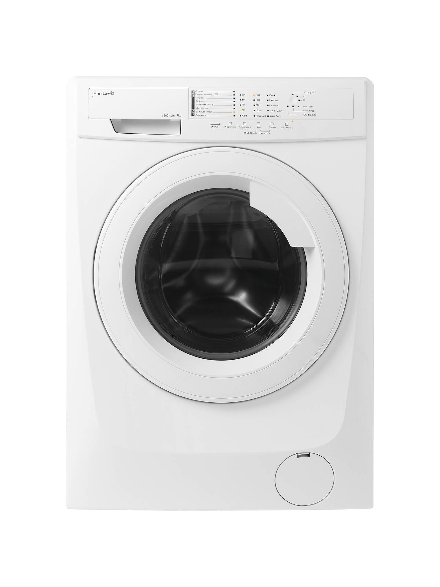 c470cd3378f Buy John Lewis   Partners JLWM1206 Freestanding Washing Machine