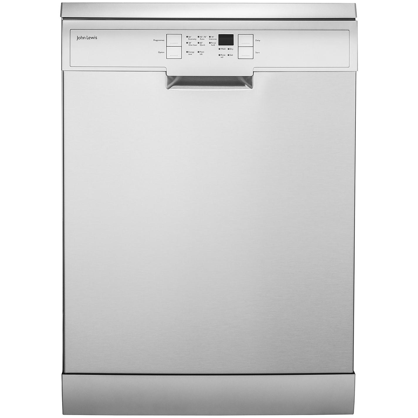 John Lewis Kitchen Appliances Buy John Lewis Jldws1209 Freestanding Dishwasher Stainless Steel