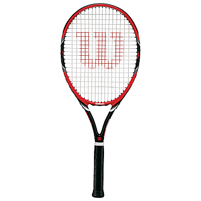 Wilson Federer Team 105 Adult Tennis Racket, Red/Black