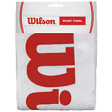 Buy Wilson Sports Towel, Red/White Online at johnlewis.com