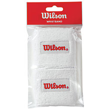 Buy Wilson Tennis Wristband, Pack of 2, White Online at johnlewis.com