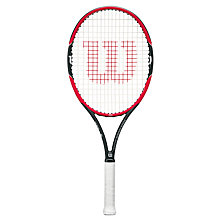 Buy Wilson Pro Staff Roger Federer 26 Junior Tennis Racket, Red/Black Online at johnlewis.com