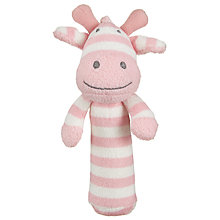 Buy John Lewis Giraffe Squeaker Soft Toy, Pink/White Online at johnlewis.com