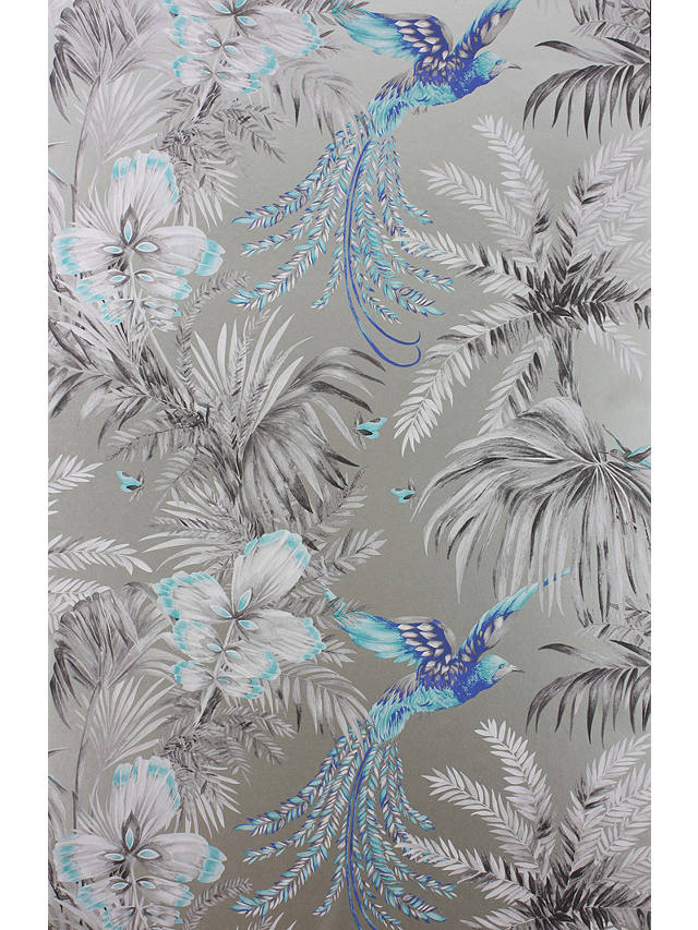 Buy Matthew Williamson Bird of Paradise Wallpaper, Turquoise, W6655-06 Online at johnlewis.com
