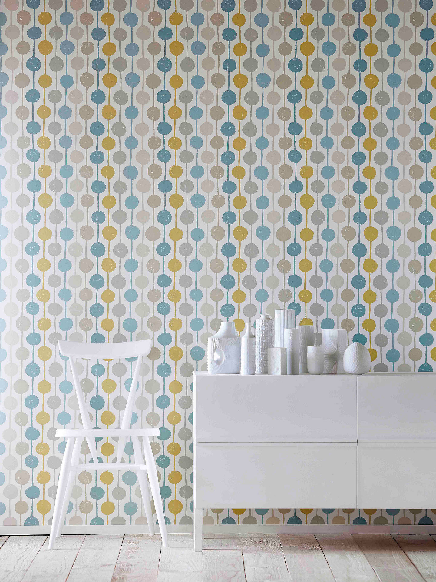 Buy Scion Taimi Wallpaper, Seaglass/Chalk, 111126 Online at johnlewis.com
