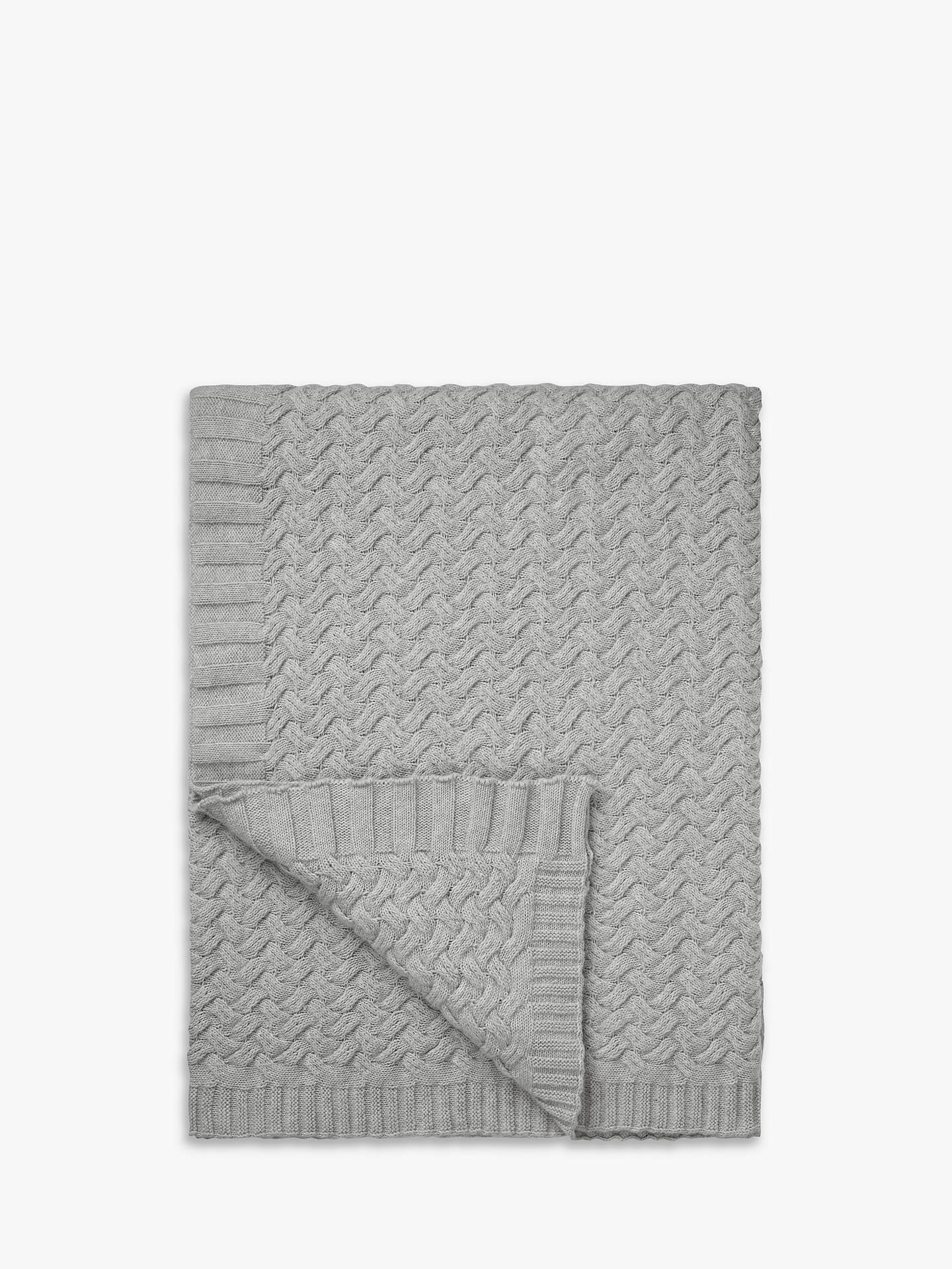 john lewis partners knitted waves throw at john lewis. Black Bedroom Furniture Sets. Home Design Ideas