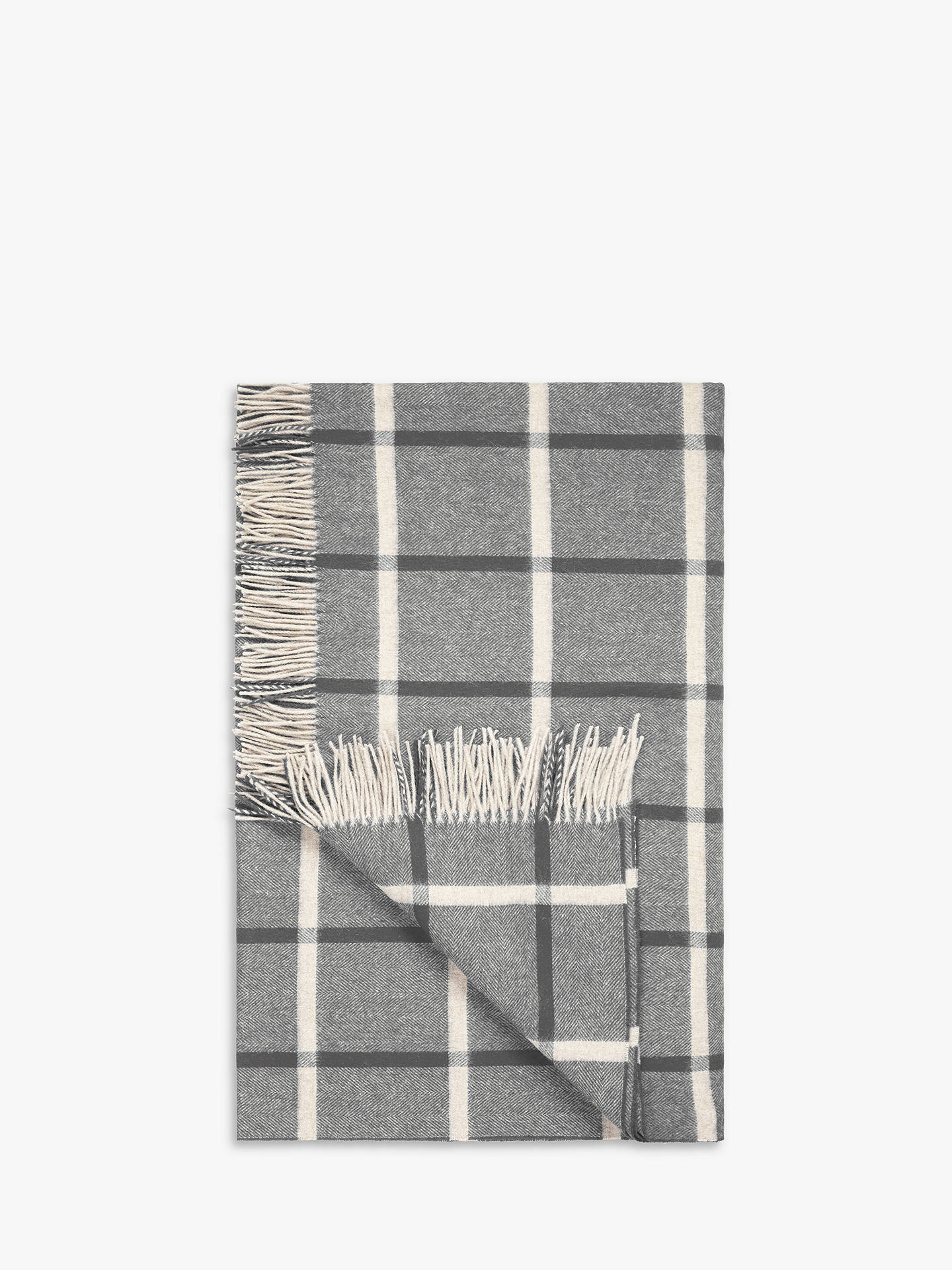 BuyBronte by Moon New Masif Throw, Charcoal Online at johnlewis.com