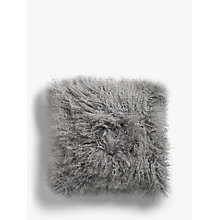 Buy John Lewis Croft Collection Mongolian Sheep Hair Cushion Online at johnlewis.com