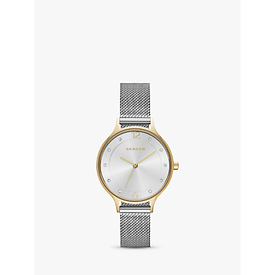 Skagen SKW2340 Women's Anita Stainless Steel Mesh Bracelet Strap Watch, Silver