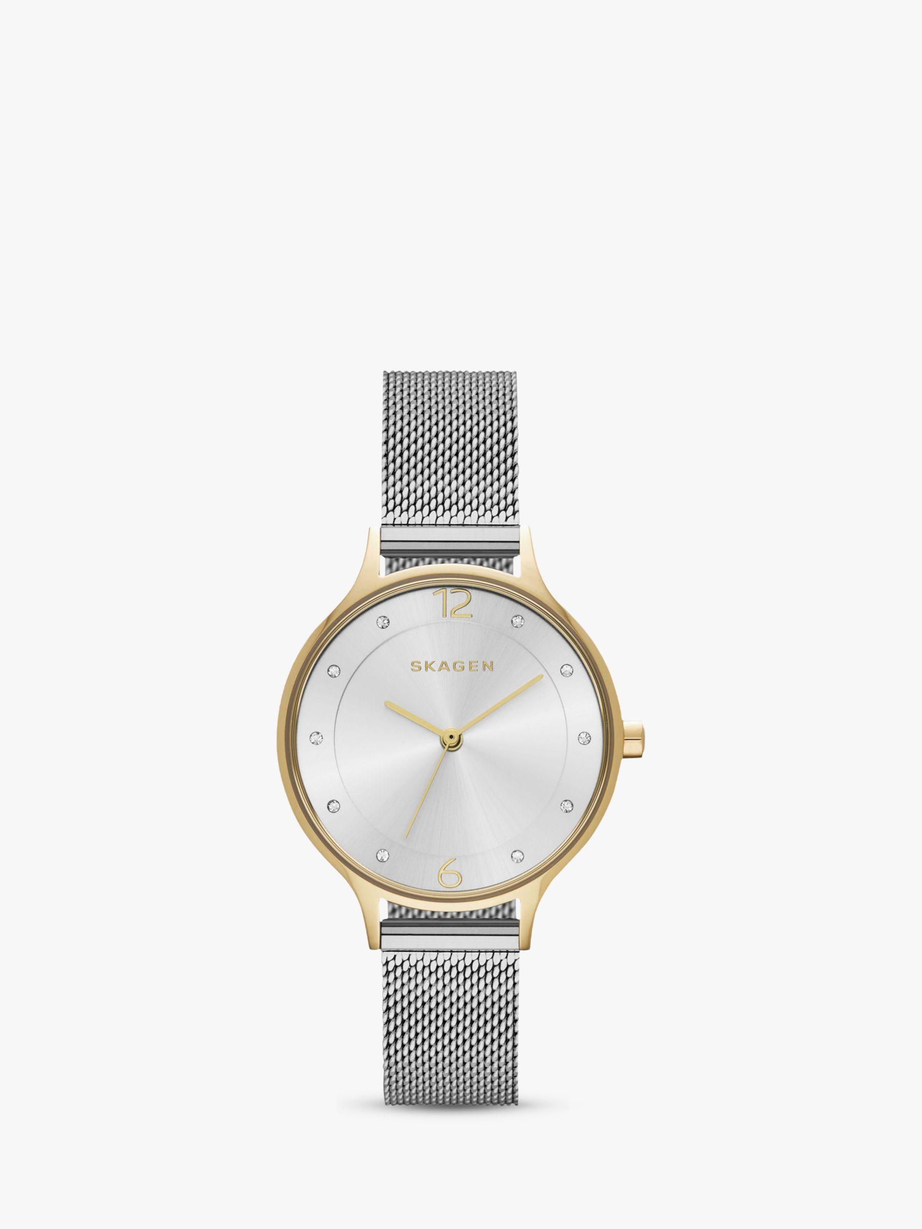 skagen Skagen SKW2340 Women's Anita Mesh Bracelet Strap Watch, Silver