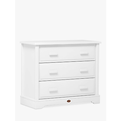 Boori 3 Drawer Dresser with Squared Changing Tray, White