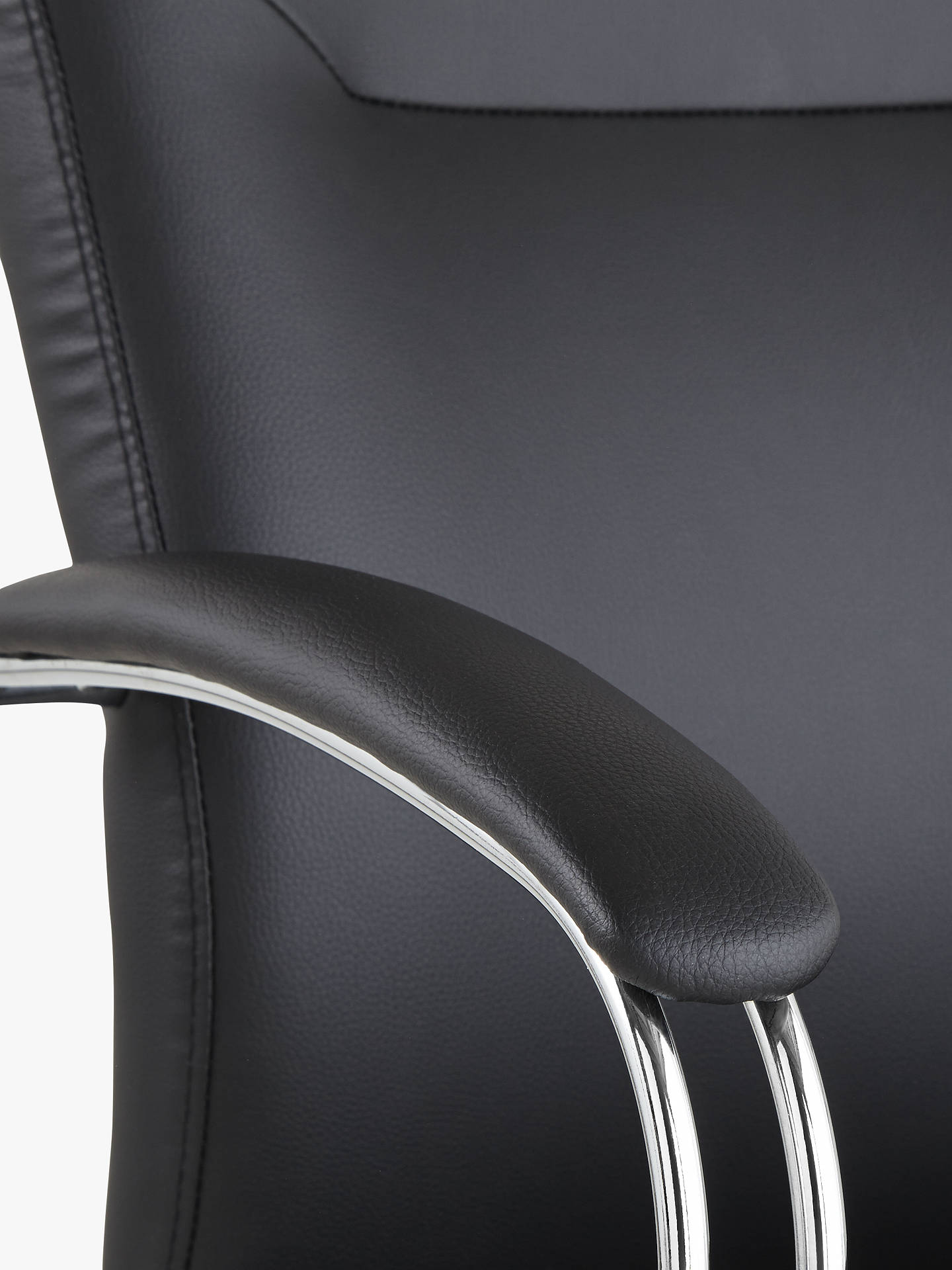 Buy John Lewis & Partners Warner Faux Leather Office Chair, Black Online at johnlewis.com