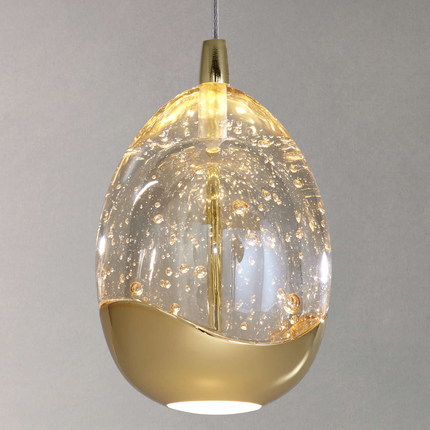 John lewis droplet led single pendant ceiling light at john lewis buyjohn lewis droplet led single pendant ceiling light satin gold online at johnlewis mozeypictures Image collections