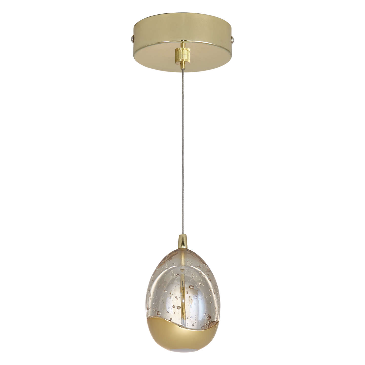 BuyJohn Lewis Droplet LED Single Pendant Ceiling Light, Satin Gold Online at johnlewis.com