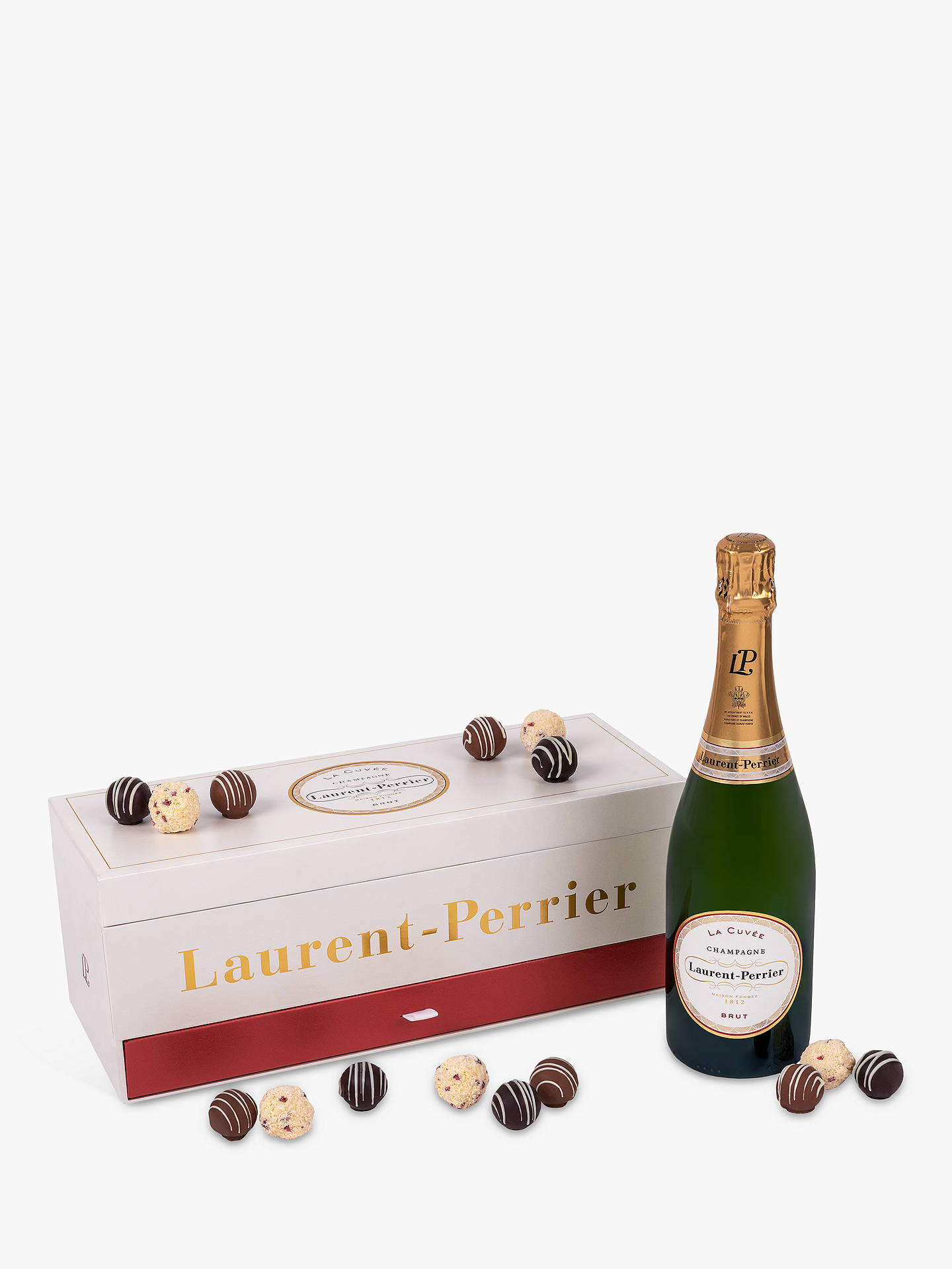 BuyLaurent-Perrier Brut Champagne and Montezuma's Truffle Set, 75cl Online at johnlewis.com