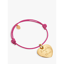 Buy Merci Maman Personalised 18ct Gold Plated Heart Bracelet Online at johnlewis.com