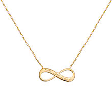 Buy Merci Maman Personalised Infinity Necklace Online at johnlewis.com