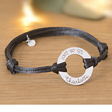 Buy Merci Maman Personalised Sterling Silver Eternity Bracelet Online at johnlewis.com