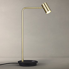 Buy John Lewis Alpha LED Desk Lamp, Gold/Black Online at johnlewis.com