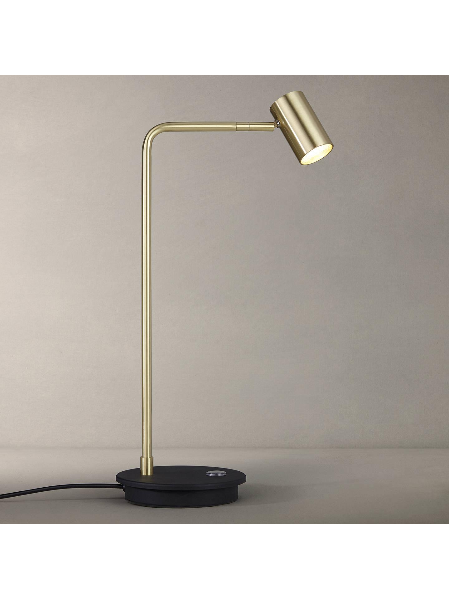 John Lewis Partners Alpha Led Desk Lamp Gold Black