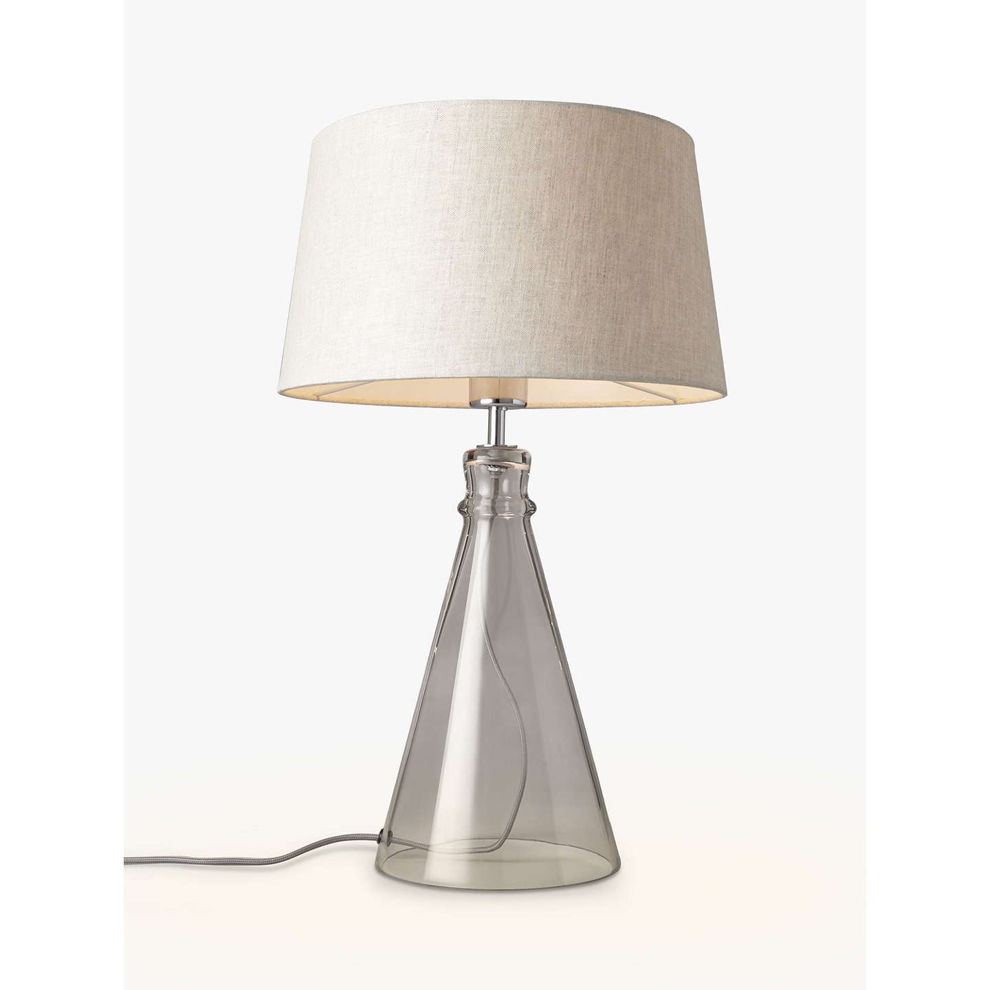 croft collection abel glass bell table lamp at john lewis