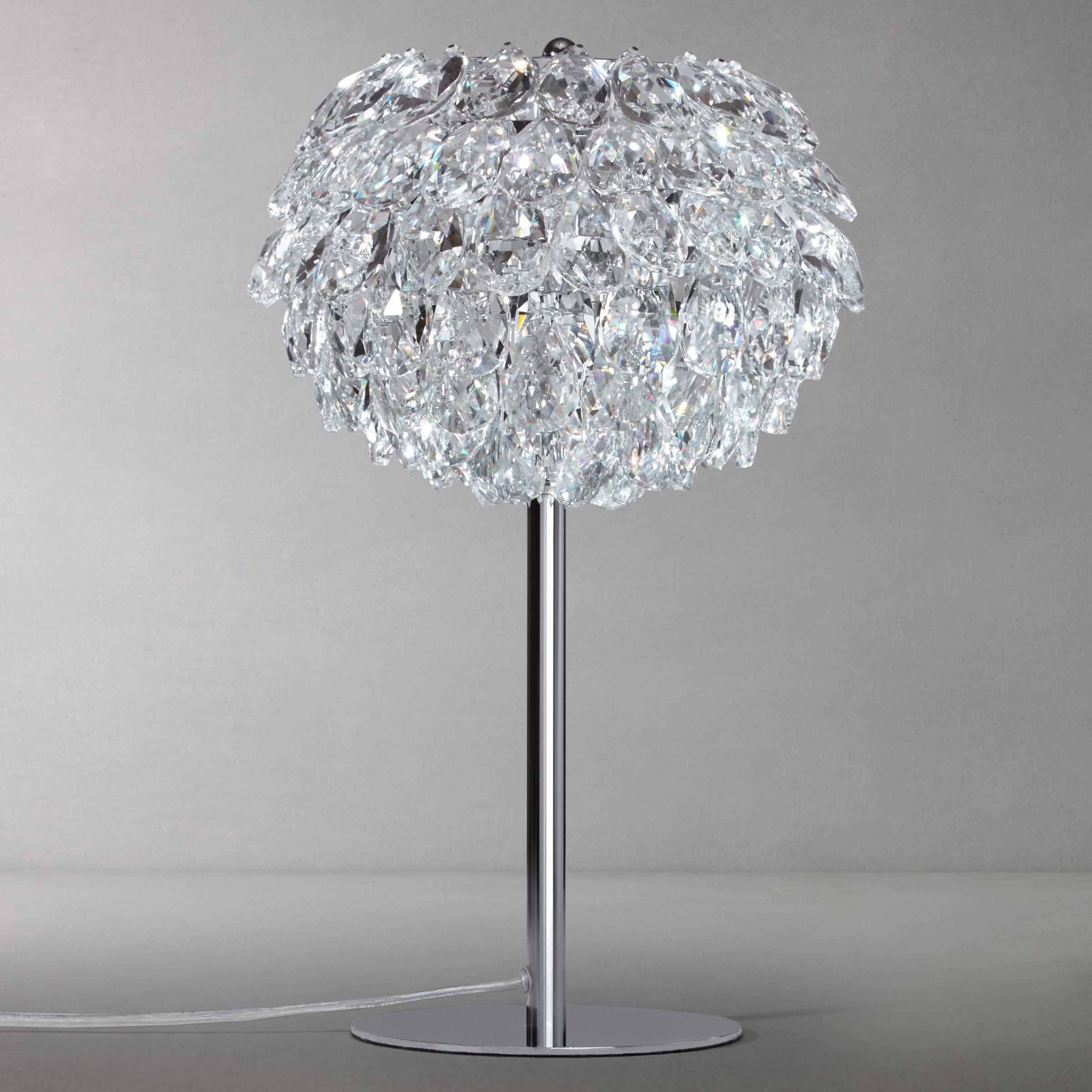 John Lewis Partners Alexa Crystal Table Lamp Chrome At John Lewis Partners