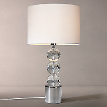 Buy John Lewis Waldorf Crystal and Chrome Table Light Online at johnlewis.com