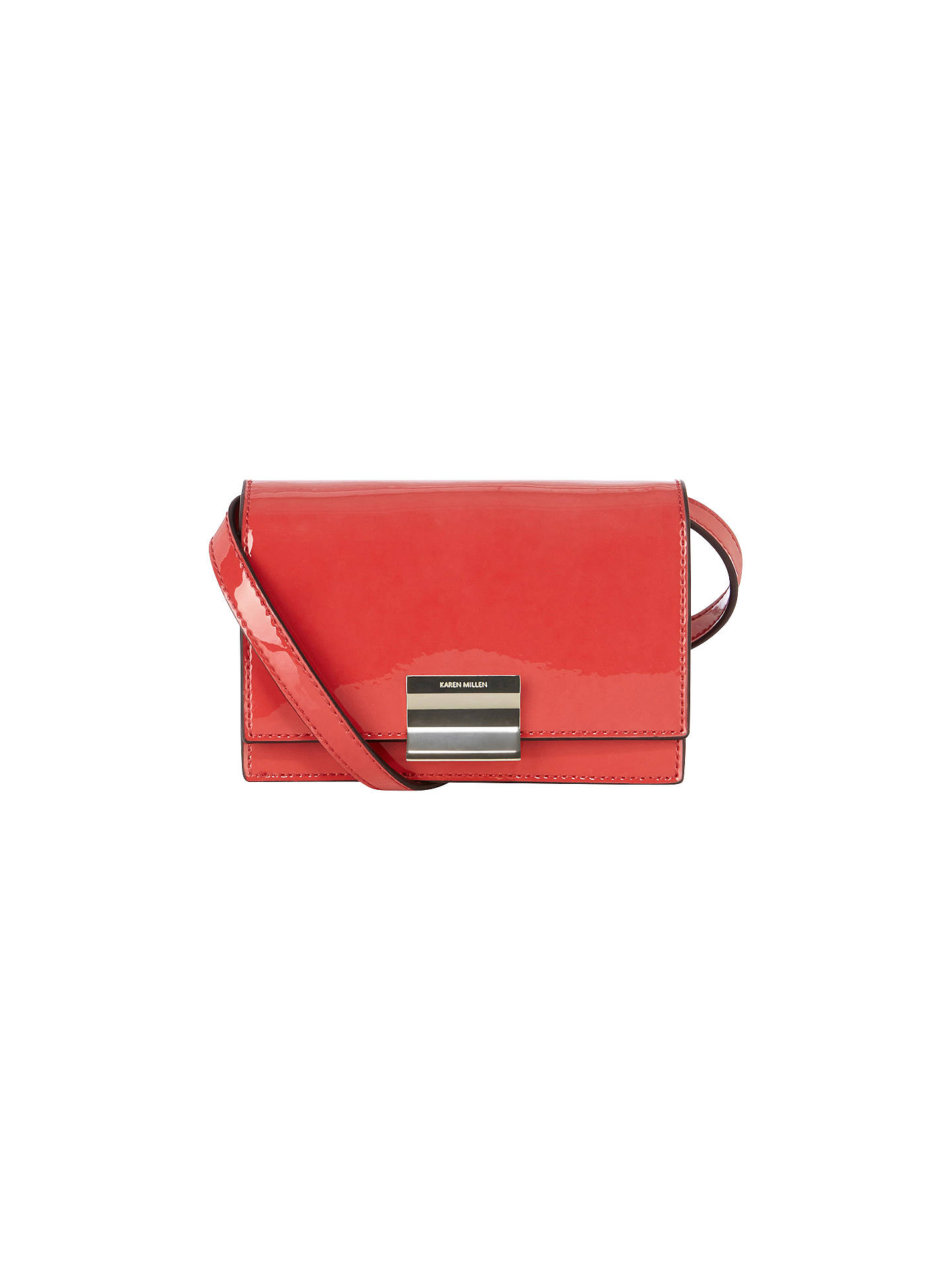 3c7f26e4c1 Buy Karen Millen Colourful Patent Mini Bag, Pink Online at johnlewis.com ...
