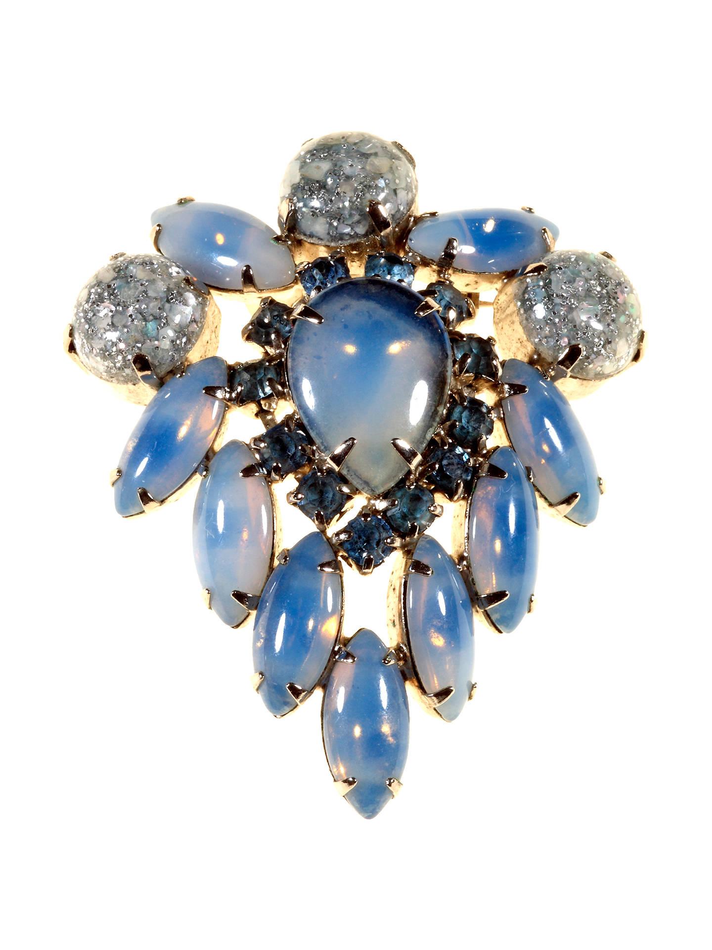 d19b1cd5fb6 Buy Alice Joseph Vintage 1950s Silver Confetti Stone Brooch, Blue Online at  johnlewis.com
