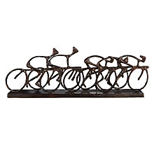 Buy Libra Antique Bronze Cyclists Sculpture Online at johnlewis.com