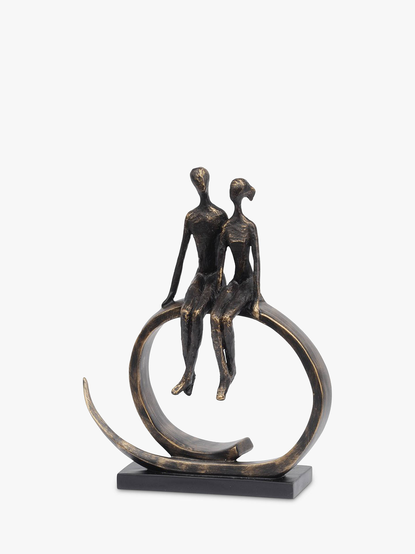 Buy Libra Seated Couple Sculpture, H37cm Online at johnlewis.com