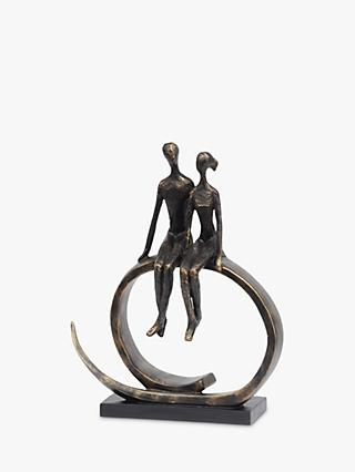 Libra Seated Couple Sculpture
