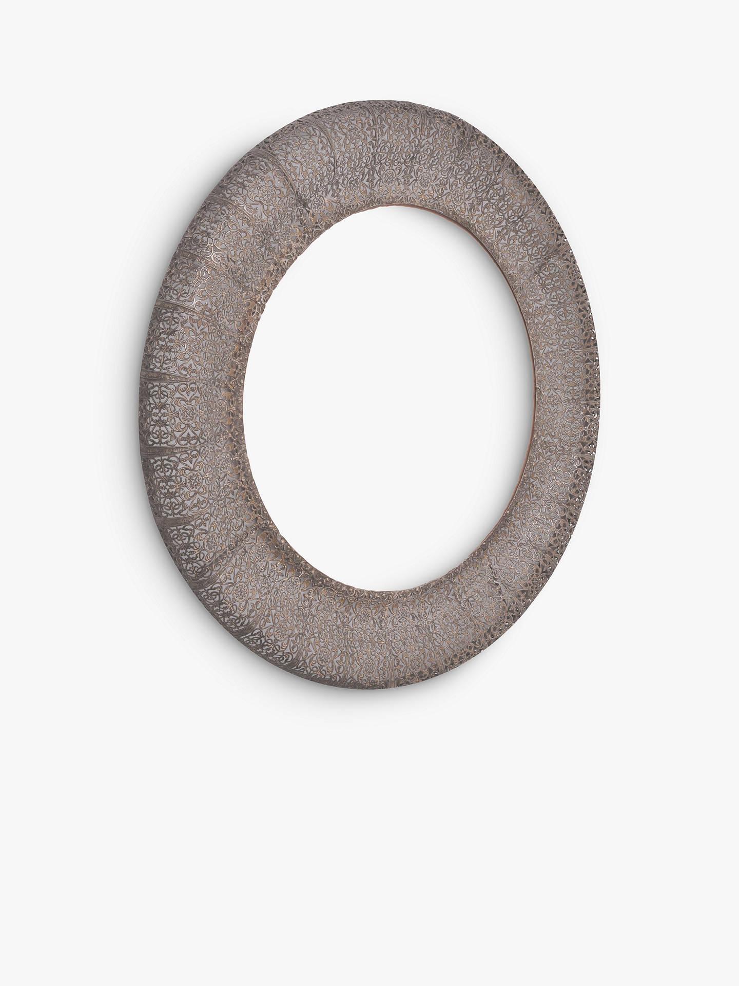 de99a8c0e7f7 Buy Libra Filigree Round Wall Mirror, 70 x 70cm, Dark Grey Online at  johnlewis ...