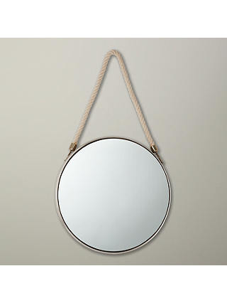 Buy John Lewis & Partners Porthole Mirror, 38 x 38cm, Silver Online at johnlewis.com