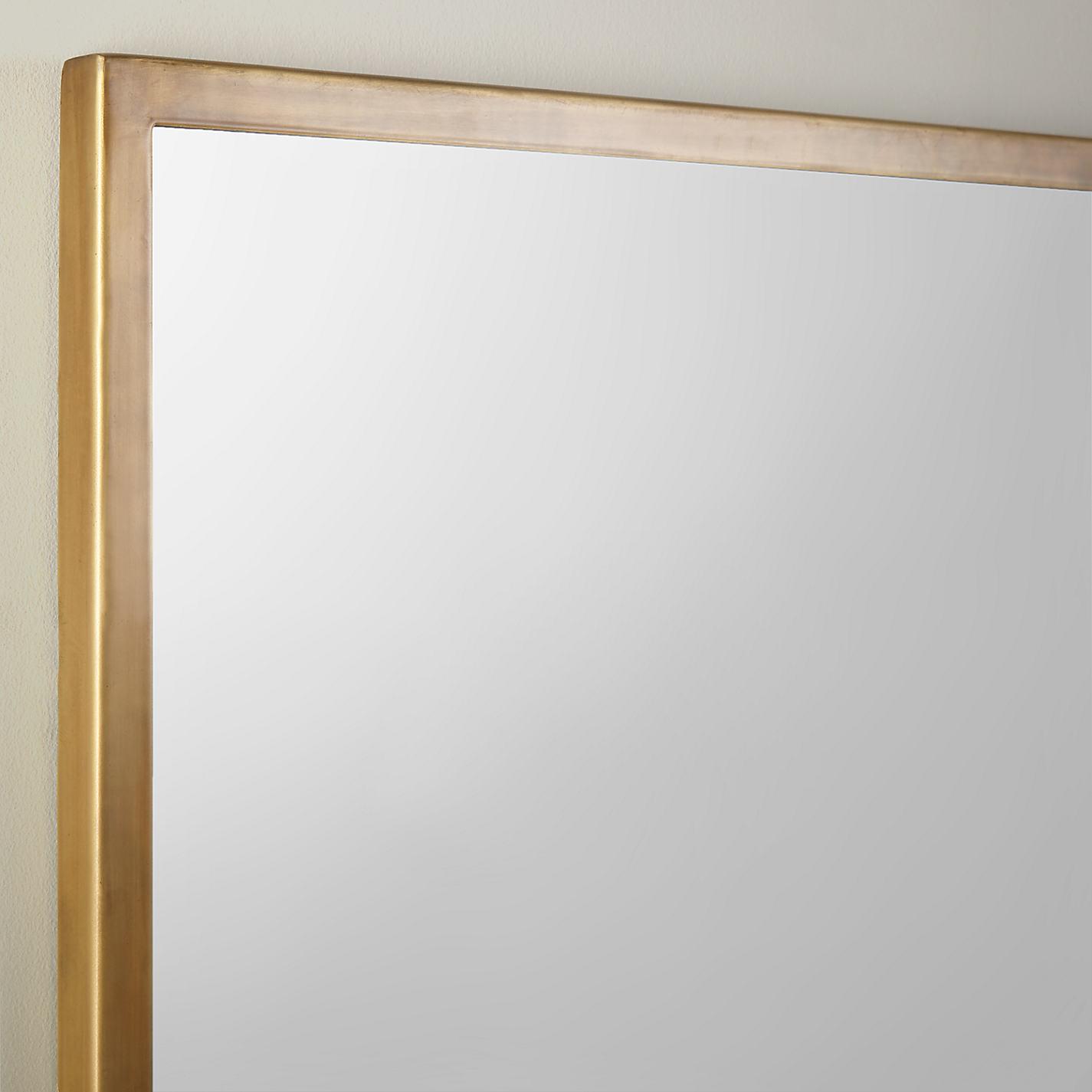 mirror john lewis. buy john lewis antique brass edged mirror, rectangular, 102 x 76cm online at johnlewis mirror