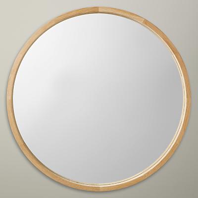 John Lewis Round Oak Scandi Mirror, 70 x 70cm, Natural