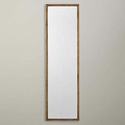 John Lewis Antique Brass Edged Full Length Mirror, 107 x 31cm