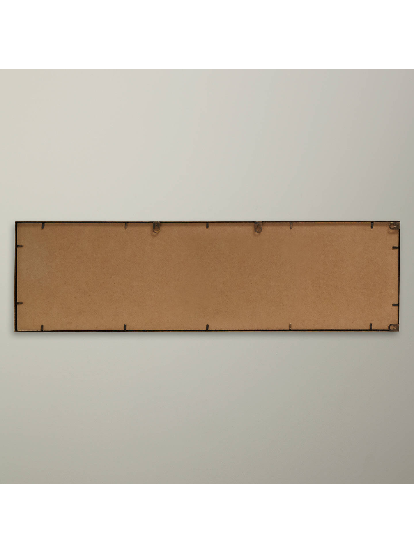 BuyJohn Lewis & Partners Ivey Rectangular Mirror, 107 x 31cm, Brass Online at johnlewis.com