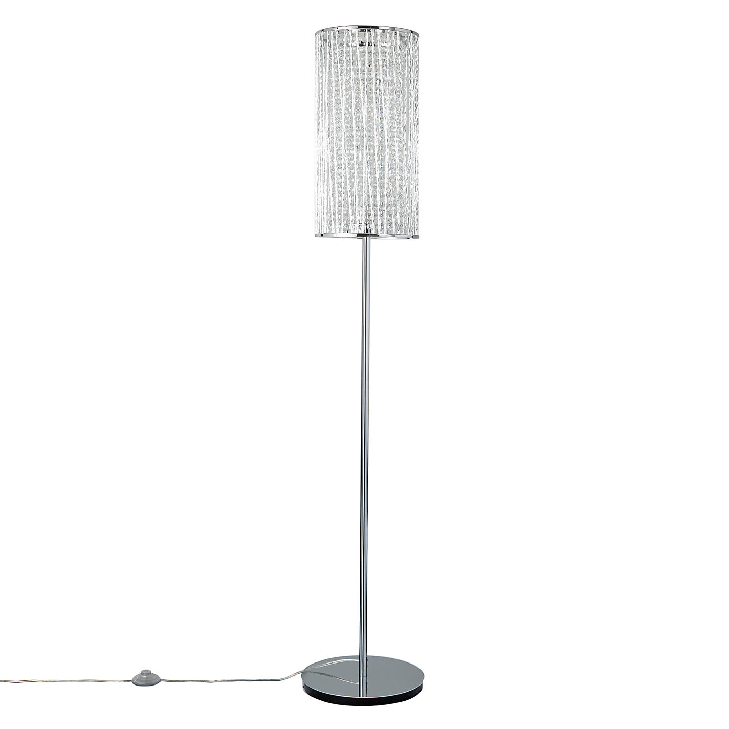 buy john lewis emilia crystal drum floor lamp online at