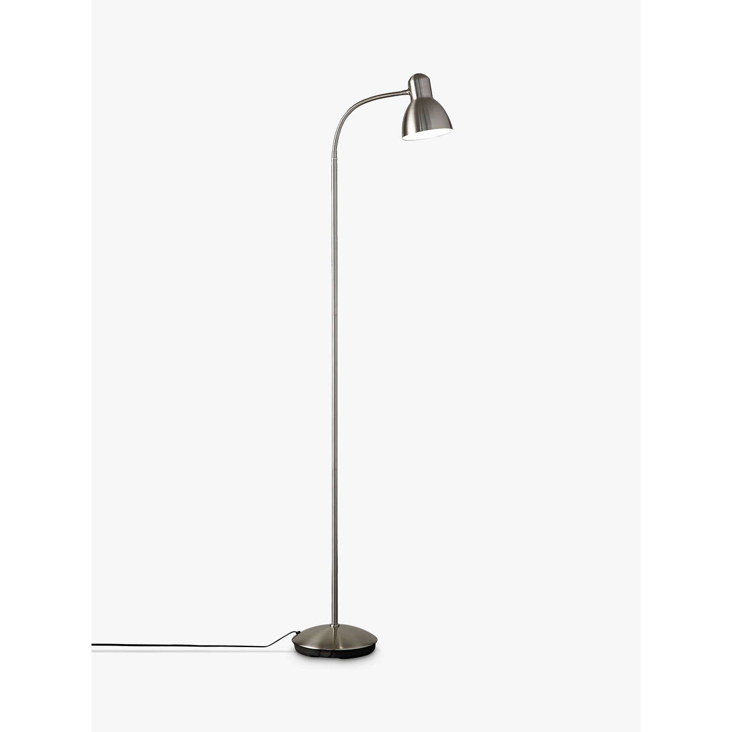 John lewis mykki led floor lamp at john lewis buyjohn lewis mykki led floor lamp satin nickel online at johnlewis mozeypictures Choice Image