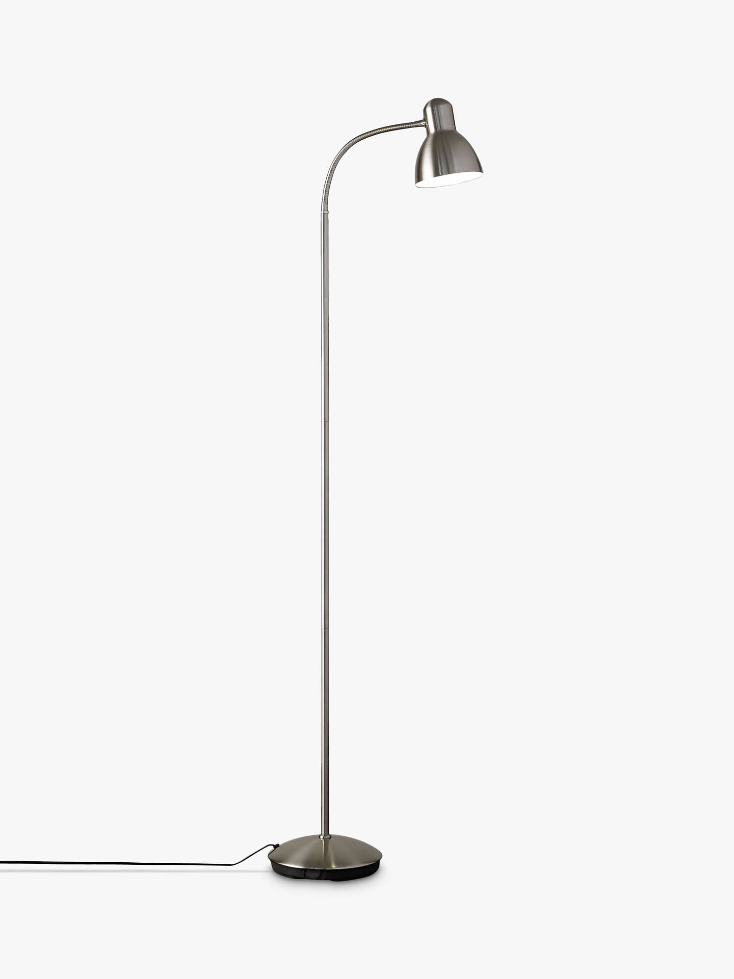 BuyJohn Lewis & Partners Mykki LED Floor Lamp, Satin Nickel Online at johnlewis.com