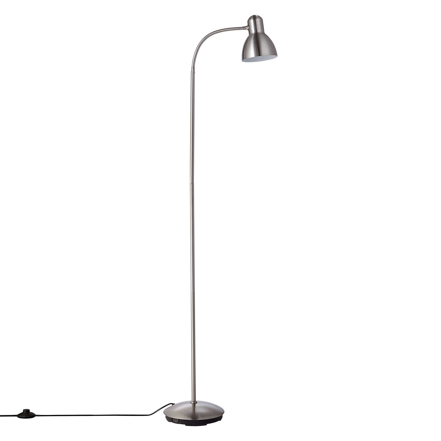 John lewis mykki led floor lamp at john lewis buyjohn lewis mykki led floor lamp satin nickel online at johnlewis mozeypictures Gallery