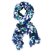 Buy Chesca Floral Printed Scarf, Navy Online at johnlewis.com
