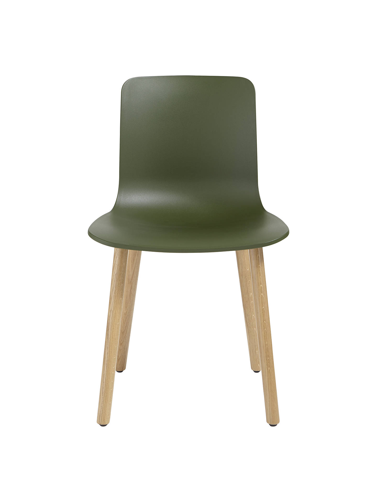 BuyVitra HAL Chair, Light Oak Leg, Ivy Online at johnlewis.com