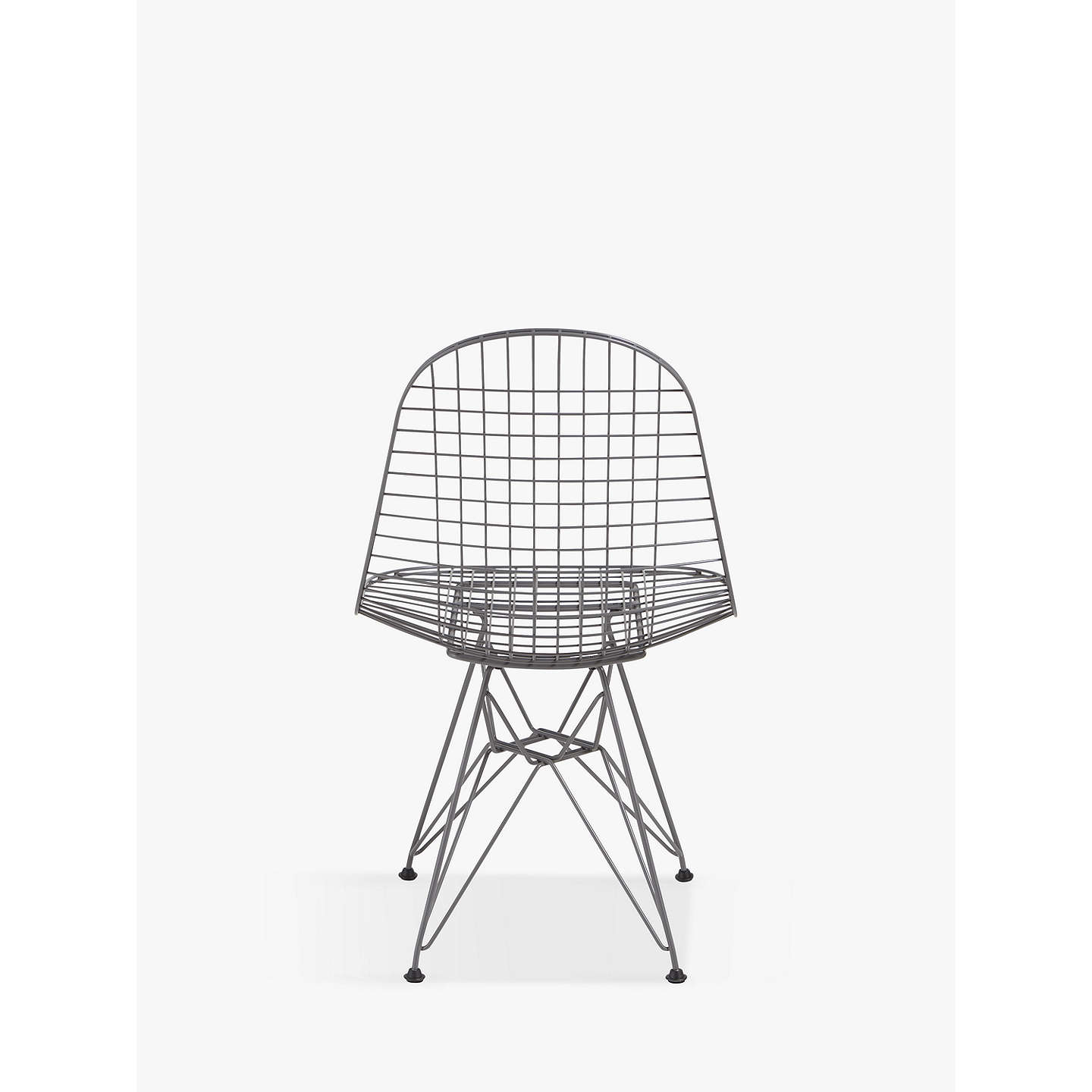 Vitra Eames DKR Wire Chair | Dark Grey at John Lewis