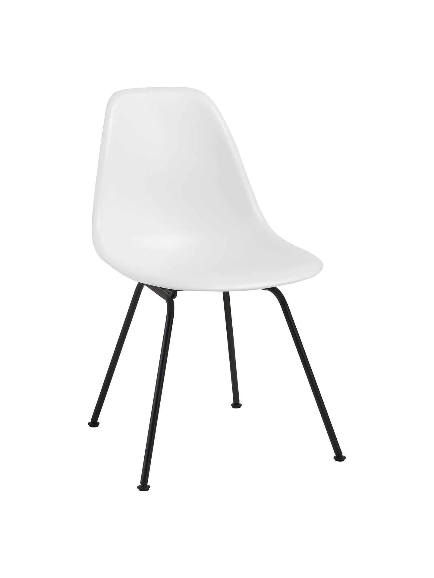 Vitra Eames Dsx Side Chair Black Metal Leg At John Lewis Partners