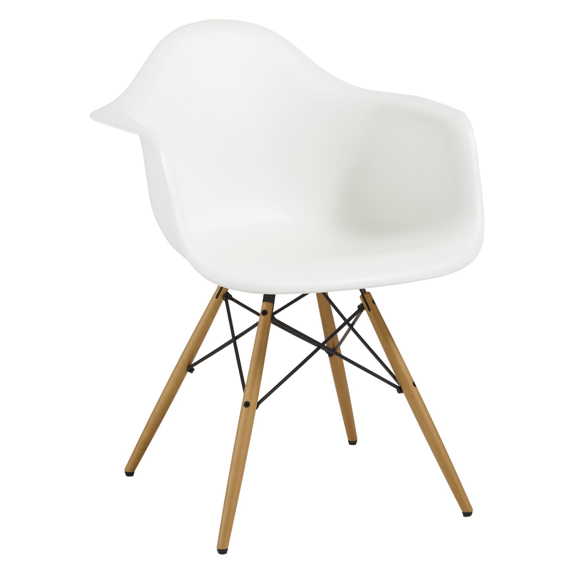 Vitra Vitra Eames DAW Armchair, Light Maple Leg