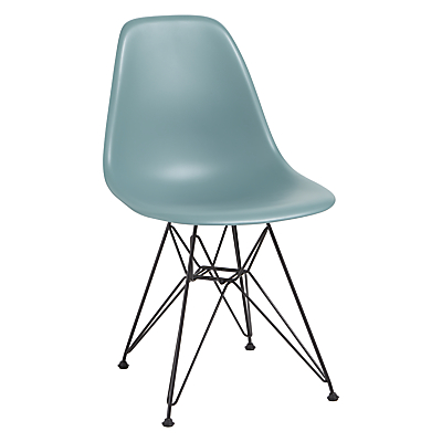 Vitra Eames DSR Side Chair, Black Metal Leg