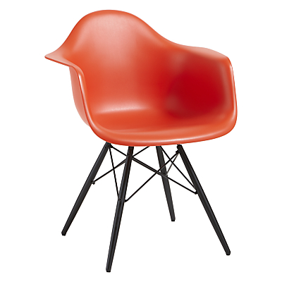 Vitra Eames DAW Armchair, Black Maple Leg