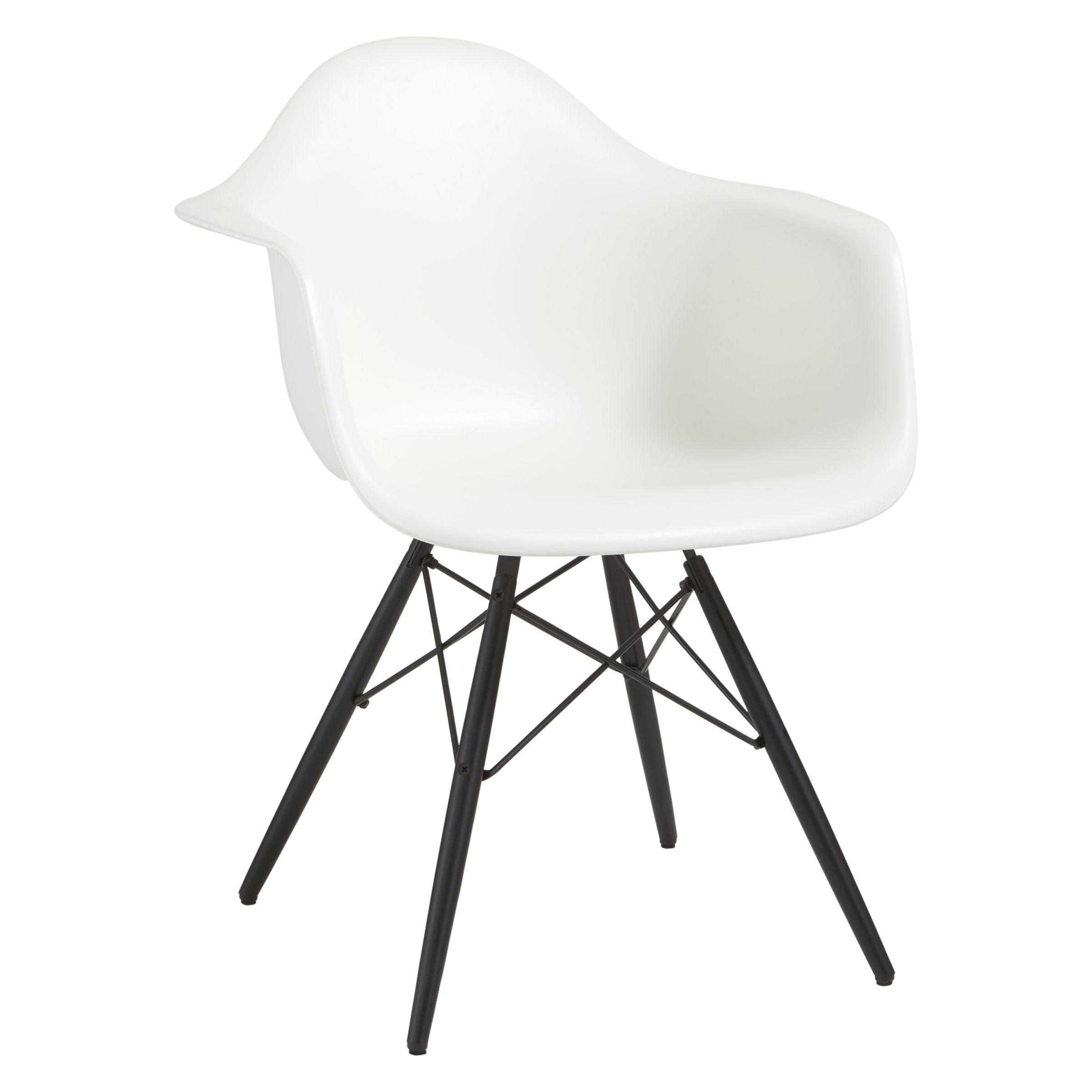 Vitra Vitra Eames DAW Armchair, Black Maple Leg